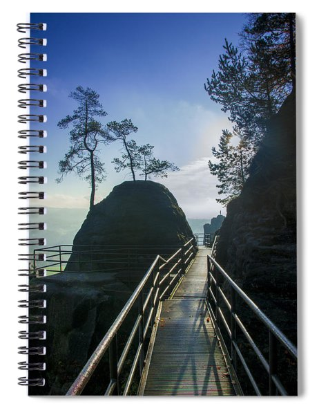 Way Into The Light On Neurathen Castle Spiral Notebook