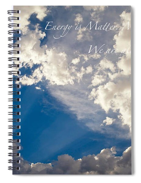 We Are All Light Beings Spiral Notebook