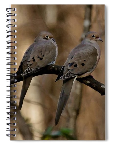 Spiral Notebook featuring the photograph We Came Together - We're Leaving Together by Robert L Jackson