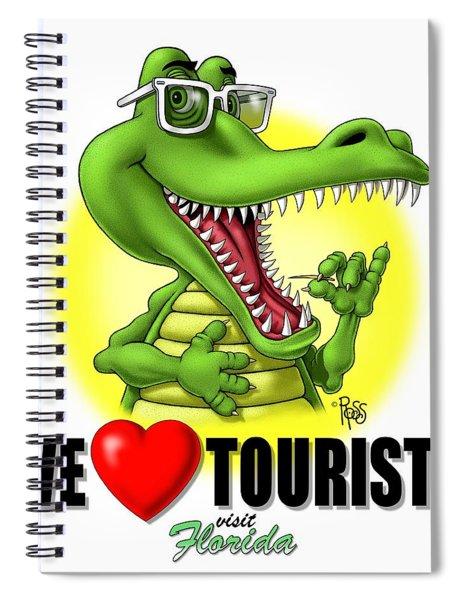 We Love Tourists Gator Spiral Notebook