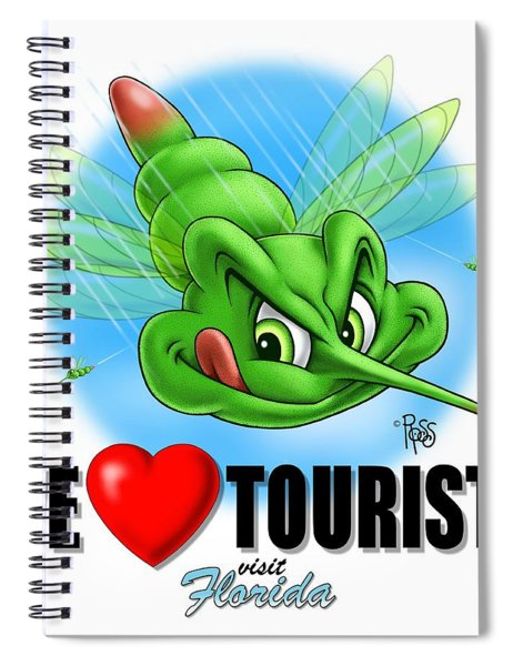We Love Tourists Mosquito Spiral Notebook