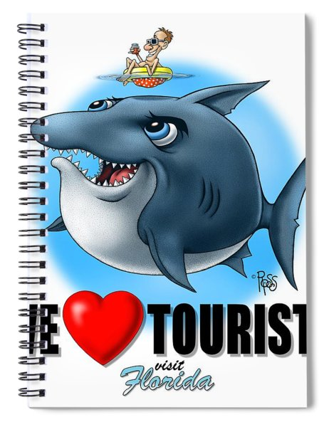 We Love Tourists Shark Spiral Notebook
