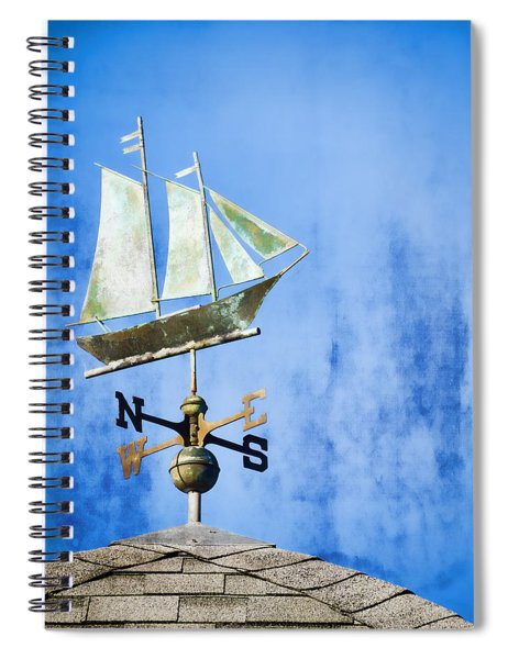 Weathervane Clipper Ship Spiral Notebook