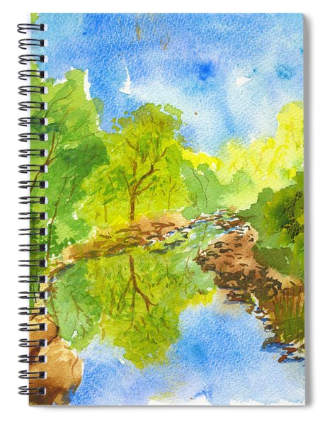 Weber River Reflection Spiral Notebook