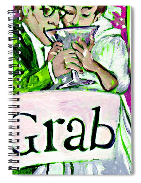 Wedding Couple Toast Spiral Notebook