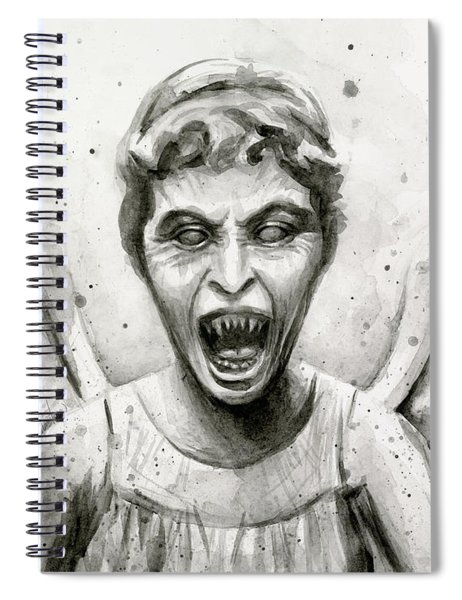 Weeping Angel Watercolor - Don't Blink Spiral Notebook
