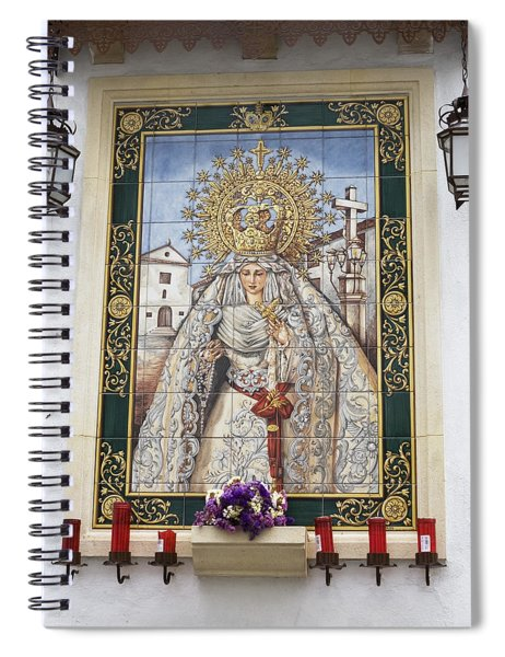 Spiral Notebook featuring the photograph Weeping Virgin by Lorraine Devon Wilke