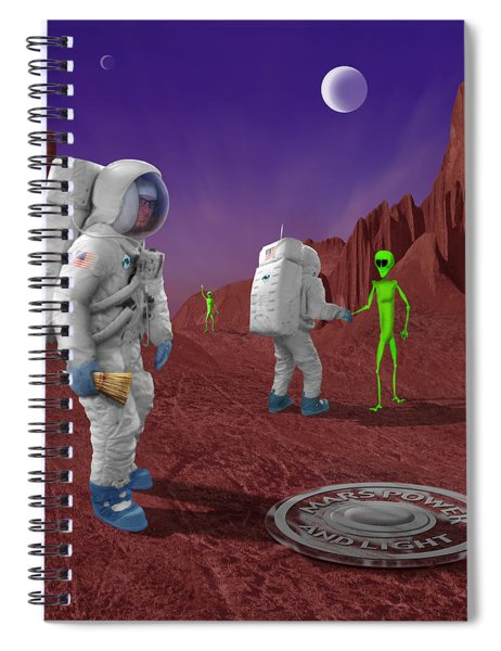 Welcome To The Future Spiral Notebook