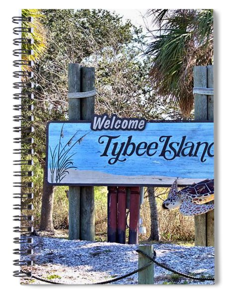 Welcome To Tybee Spiral Notebook