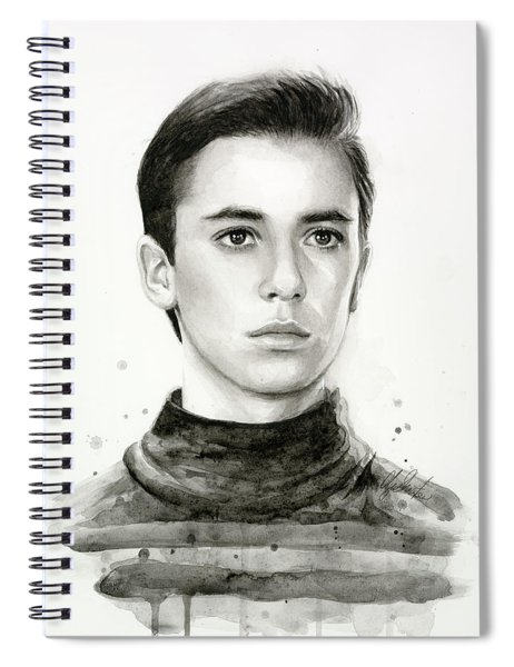 Wesley Crusher Star Trek Fan Art Spiral Notebook