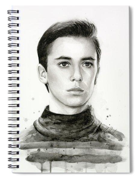 Wesley Crusher Star Trek Fan Art Spiral Notebook