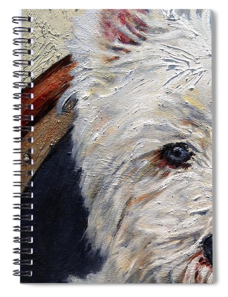 West Highland Terrier Dog Portrait Spiral Notebook