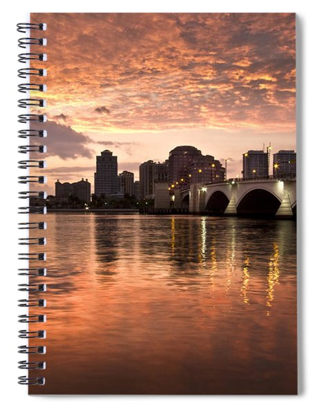 West Palm Beach Skyline At Sunset Spiral Notebook