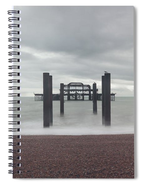 West Pier Skeleton In Brighton Spiral Notebook