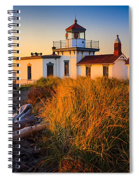 Spiral Notebook featuring the photograph West Point Lighthouse by Inge Johnsson