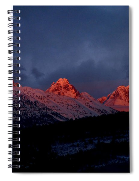West Side Teton Sunset Spiral Notebook