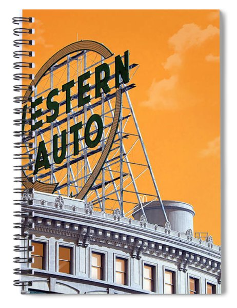 Western Auto Sign Artistic Sky Spiral Notebook