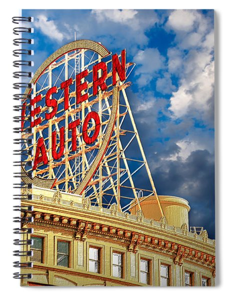 Western Auto Sign Downtown Kansas City Spiral Notebook