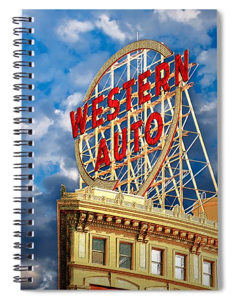 Western Auto Sign Downtown Kansas City Spiral Notebook
