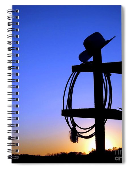 Western Sunset Spiral Notebook by Olivier Le Queinec