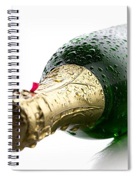 Wet Champagne Bottle Spiral Notebook