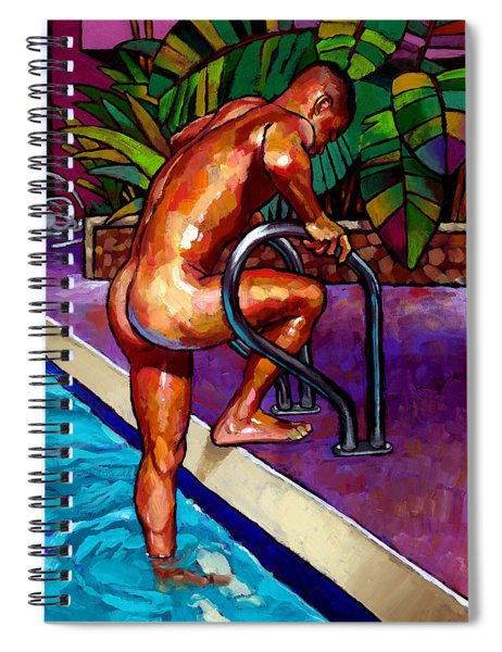 Wet From The Pool Spiral Notebook