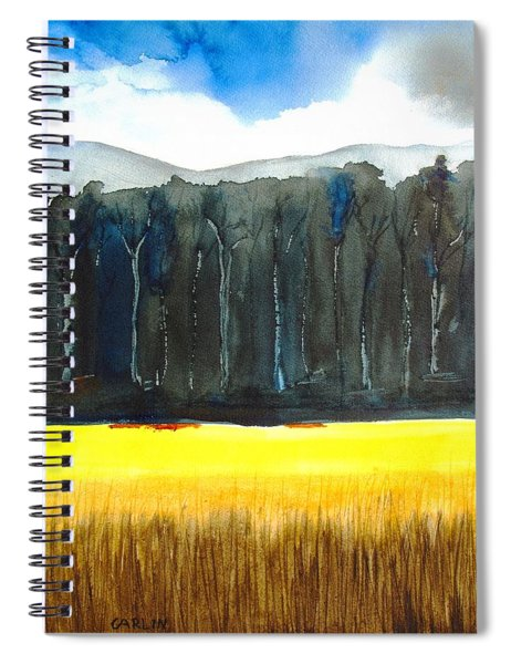 Wheat Field 2 Spiral Notebook