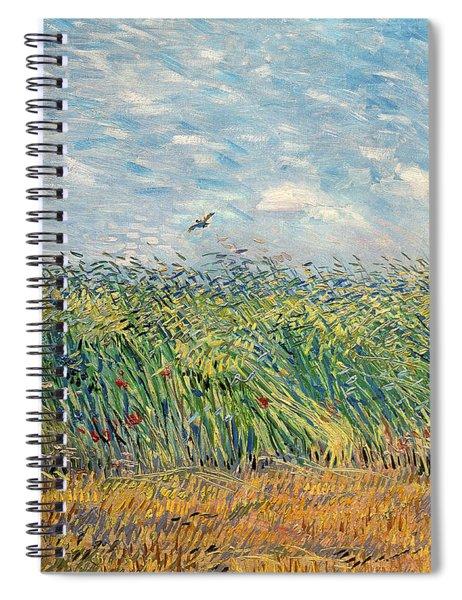 Wheatfield With Lark Spiral Notebook