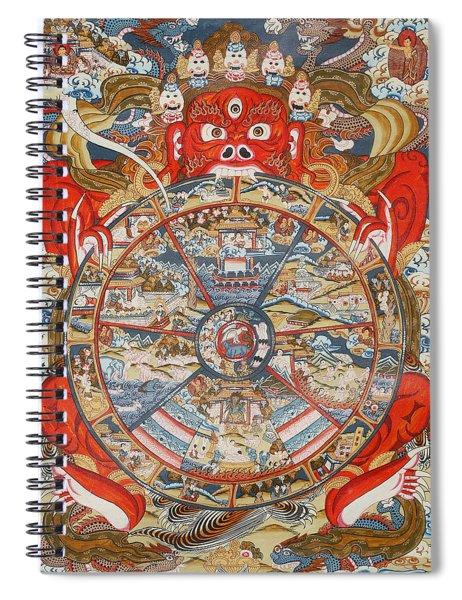 Wheel Of Life Or Wheel Of Samsara Spiral Notebook