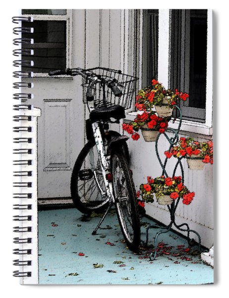 Wheels And Flowers Spiral Notebook