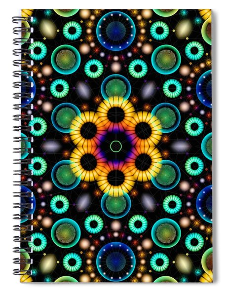 Wheels Of Light Spiral Notebook