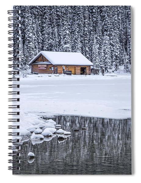 When It Snows Outside Spiral Notebook by Evelina Kremsdorf