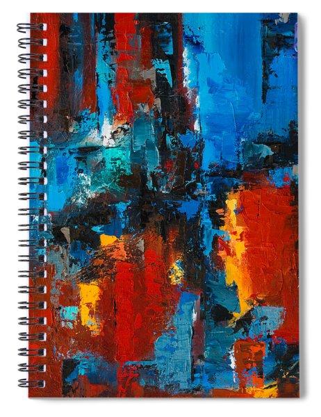 When Red And Blue Meet Spiral Notebook