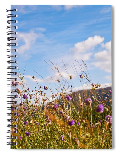 When The Sun Is Shining Everything Around Smiling Towards. Scotland Spiral Notebook