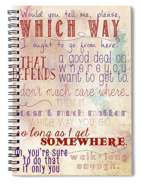 Which Way Spiral Notebook