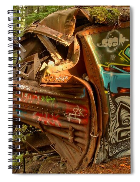 Whistler Box Car Graffiti Spiral Notebook