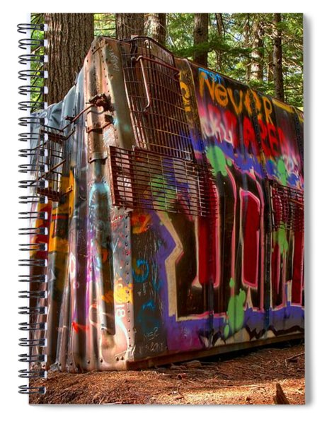 Whistler Train Wreck Spiral Notebook