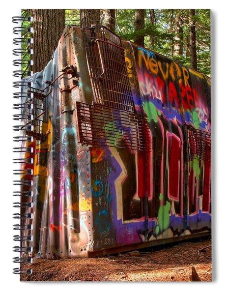 Whistler Train Wreck Spiral Notebook