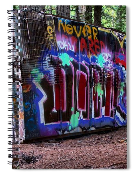 Whistler Train Wreck Box Car Spiral Notebook