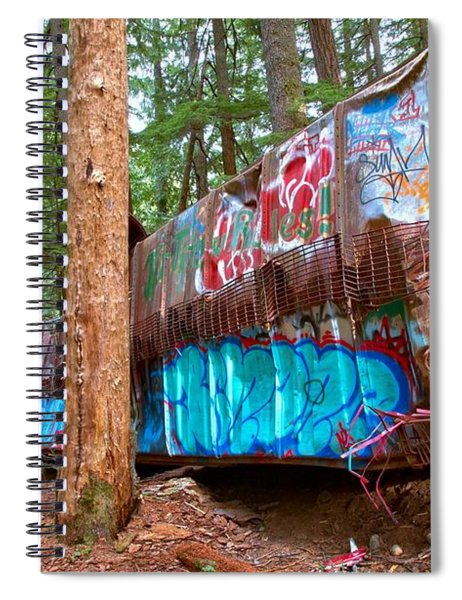 Whistler Train Wreck Box Car Graffiti Spiral Notebook