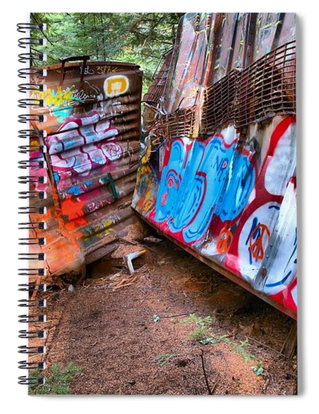 Whistler Train Wreck Cars Spiral Notebook