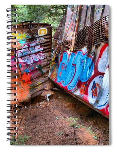 Whistler Train Wreck Covered In Graffiti Spiral Notebook