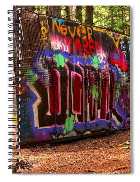 Whistler Train Wreck Graffiti Spiral Notebook