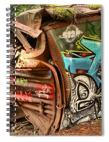 Whistler Train Wreck Stopping Point Spiral Notebook