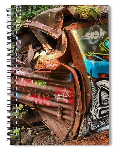 Whistler Train Wreck Tree Spiral Notebook