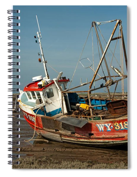 Whitby Crest At Brancaster Staithe Spiral Notebook