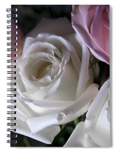 White And Pink Roses Spiral Notebook