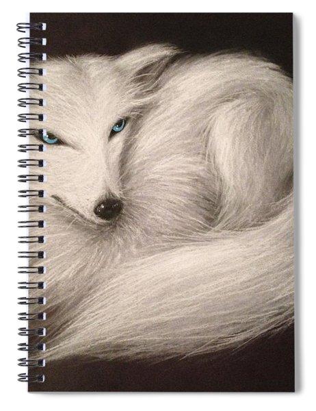 White Fox Spiral Notebook
