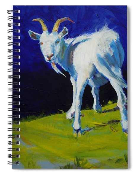 White Goat Painting Spiral Notebook