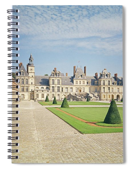 White Horse Courtyard, Palace Of Fontainebleau Photo Spiral Notebook